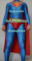 Classic Superman Costume 3D Printed Lycra Spandex Super man Bodysuit Halloween Cosplay Superman Zentai Suit