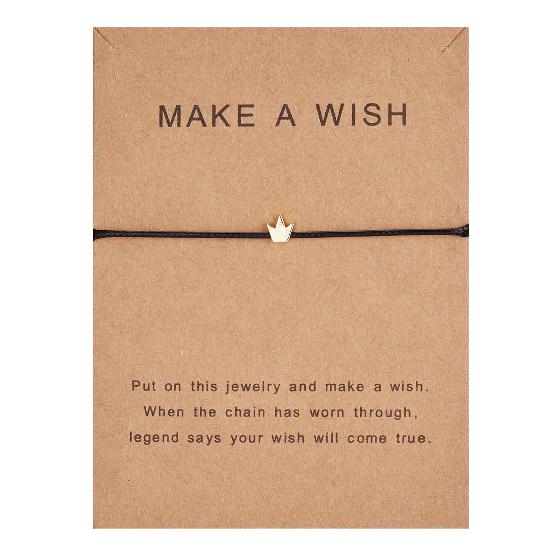Rinhoo модный тканый регулируемый браслет с картой Бесконечность любовь Золотая Корона Звезда очаровательный браслет для девочек ювелирные изделия Прямая - Окраска металла: 17