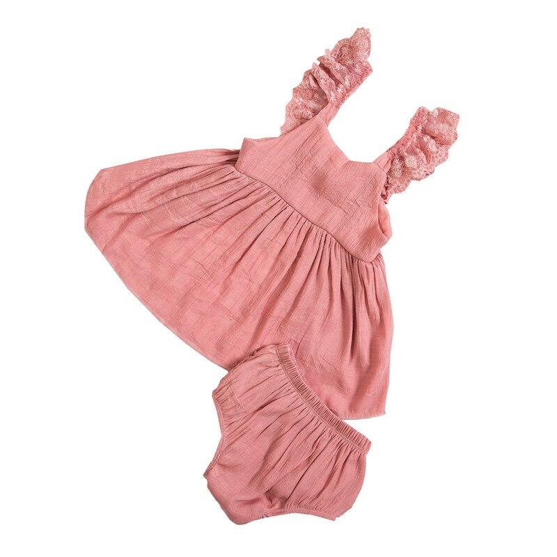 2018 nueva moda trajes de encaje Verano de algodón bebé 2 piezas ropa  Patchwork arco niño niños ropa de bebé KP-LSWF02 05a18c82e4e