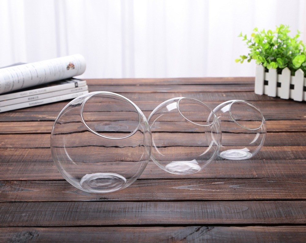 2015 new clear glass bowl vase fish tank succulents terrarium clear glass bowl vase fish tank succulents terrarium landscape wedding home decoration 3 size in vases from home garden on aliexpress alibaba group floridaeventfo Images