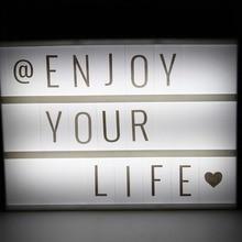 LED Advertising Lights 30*22*4.5cm DIY Letter Card Combination Light Box Nice Table For Decorative & Romantic Night light
