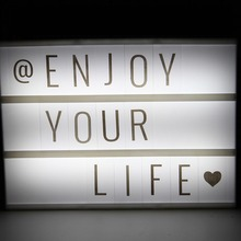 White LED Advertising Lights LED DIY Letter Card Combination Light Box Nice Table Light For Decorative And Romantic Night light