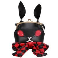 Alice in wonderland 3d bunny ears personalized clip female handbag cute bow shoulder messenger bag