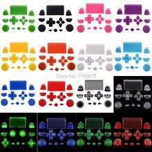 Juego de botones de disparo para Playstation Dualshock 4, PS4, DS4, accesorios de mando, color sólido, 17 colores, R2, L2, R1, L1