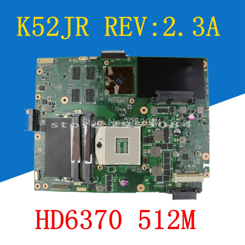 New!!! K52JR REV:2.3A HD6370 512M motherboard For Asus K52JR A52J X52J K52JU K52JT K52JC K52J laptop motherboard 60-N1XMB1000 hot selling k52jt hd6370 1gb mainboard for asus k52j a52j x52j k52jk k52ju k52jb k52jt k52jr k52je laptop motherboard