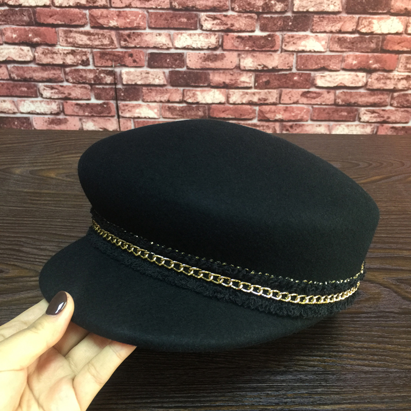Europe and the United States wool hat, the new students retro fashion shopping female baseball cap joker hat hat men hat europe and the united states fashion leather simple autumn and winter wild baseball cap out fashion hot sale