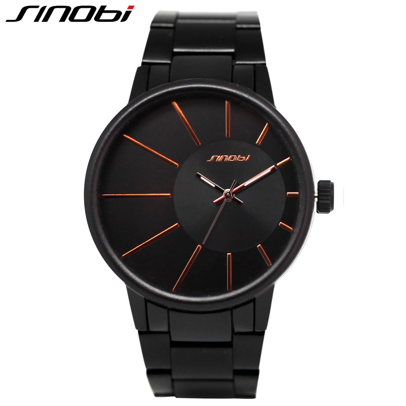SINOBI Mens Watches Top Brand Luxury Men Stainless Steel Wristwatches Simple Style Business Quartz Watch Clock relogio masculino wishdoit watch men top brand luxury watches simple business style fashion quartz wrist watch mens stainless steel watch relogio