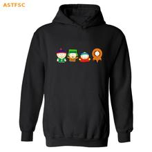New Fashion American Sitcoms South Park Hooded Punk Hoodie Men in Eric Cartman Funny Mens Hoodies and Sweatshirts Casualwear