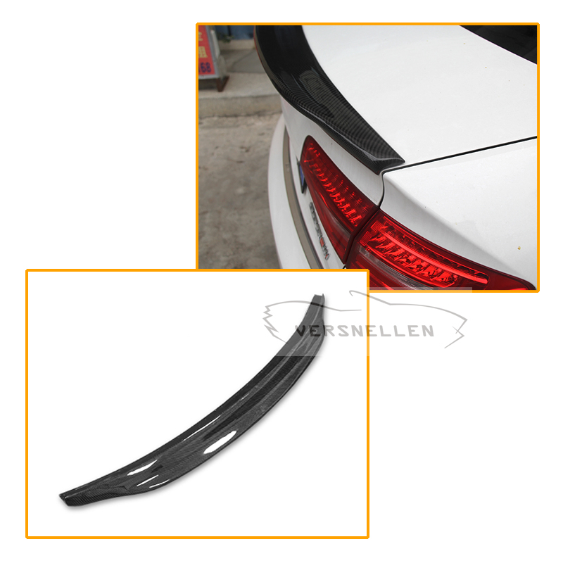 NEW Style Carbon Fiber Spoiler Wing For Audi A4 B8 Carbon Lid Rear Trunk Boot Spoiler Sedan wing 2008 2012