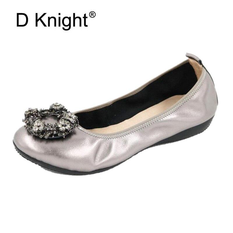 Mode sans lacet femmes chaussures plates doux en cuir véritable noir rouge rose mocassins printemps automne chaussures de Ballet confortables pour les femmes