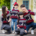 Autumn winter parent-child outfit family of mother and daughter mom and dad son sweater famliy look