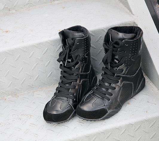 Luxury brand Hip-hop dancing cool white Shoes Fashion Boots High Top Trainers genuine leather martin Boots sneakers 5