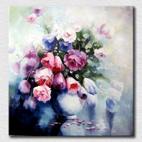 Colorful flower oil painting reproduction handmade oil painting on canvas wall art for living room wall