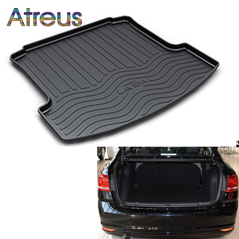 Atreus Car Rear Trunk Floor Mat Durable Carpet For Volkswagen VW Lavida 2008 2009 2010 2011 2012 2013 2014 2015 2016 2017 2018 fit for volkswagen vw tiguan rear trunk scuff plate stainless steel 2010 2011 2012 2013 tiguan car styling auto accessories