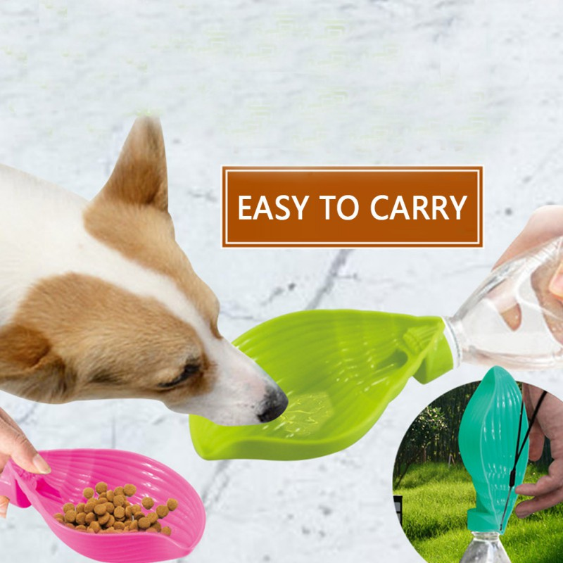 2019 pet durable high quality material water dispenser plastic small size large capacity dual purpose drinking cup and food bowl image
