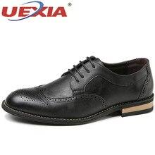 0009e5a518 UEXIA Jacaré Moda de Luxo Da Marca de Couro Homens Sapatos Masculinos  Condução Sapatos Casuais outono