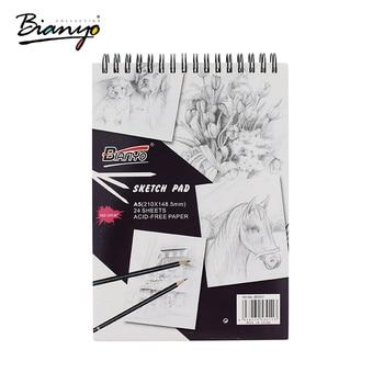 ea5b581c8e Bianyo 160gsm A4 A5 Quaderno di Schizzi di Cancelleria Notepad SketchBook  Per La Pittura Disegno Diario Ufficiale Notebook Creativo Regalo