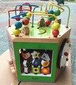 Новое Прибытие Детские Игрушки 6 In1 Многофункциональный Шестигранные Вокруг Шарика Галерея Деревянные Игрушки Детские Раннего Обучения Образовательных Подарок