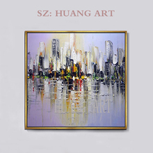 Modern European architectural style hand oil painting home decoration club children room study coffee house hall w