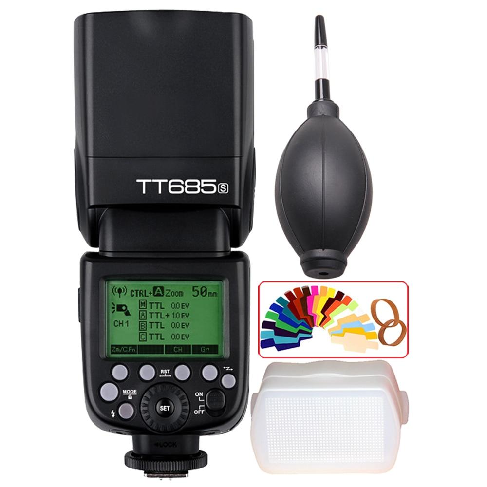 Беспроводная Высокоскоростная синхронизация Godox TT685 TT685S 2,4G 1/8000s GN60 Вспышка Speedlite для Sony A77II A7RII A7R A99 A58 A6500 A6000 A6300