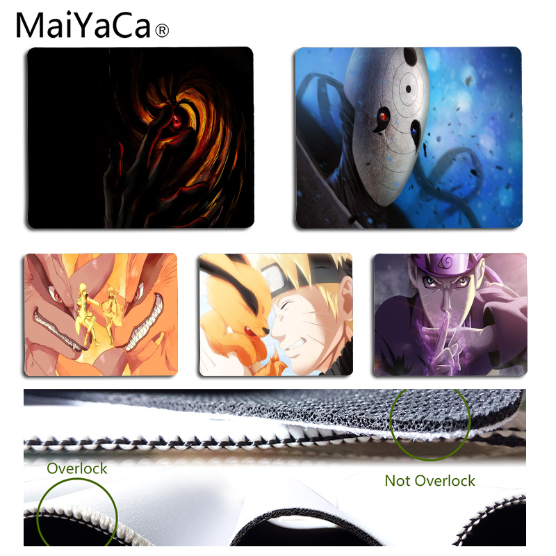 MaiYaCa New Printed Naruto DIY Design Pattern Game mousepad Size for 180*220*2mm and 250*290*2mm Mousepad image