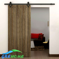 4 9FT 6FT 6 6FT Black Rustic Carbon Steel Diamond Hanger Roller Wood Barn Sliding Door