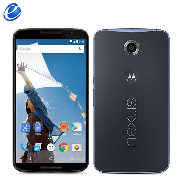 "Unlocked Original Motorola Google Nexus 6 XT1103 XT1100 3GB RAM 32GB/64GB ROM Quad Core 4G LTE Cell Phone 5.96"" inch 13MP mobile"