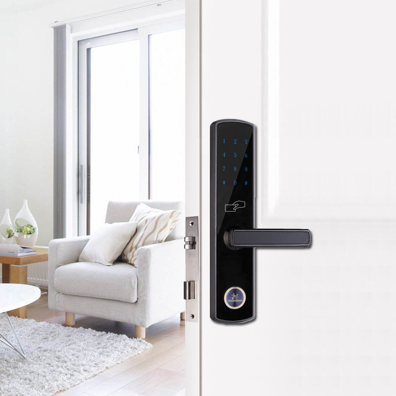 Bluetooth Smart Electronic Door Lock Keypad Mortise Door Lock For Home Airbnb House or Apartment with App Remote Control-in Electric Lock from Security ... & Bluetooth Smart Electronic Door Lock Keypad Mortise Door Lock For ...