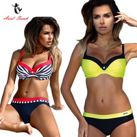 Ariel Sarah Bikini Set 2017 Halter Swimsuit Bathing Suit Women Push Up Bikini Plus Size Swimwear