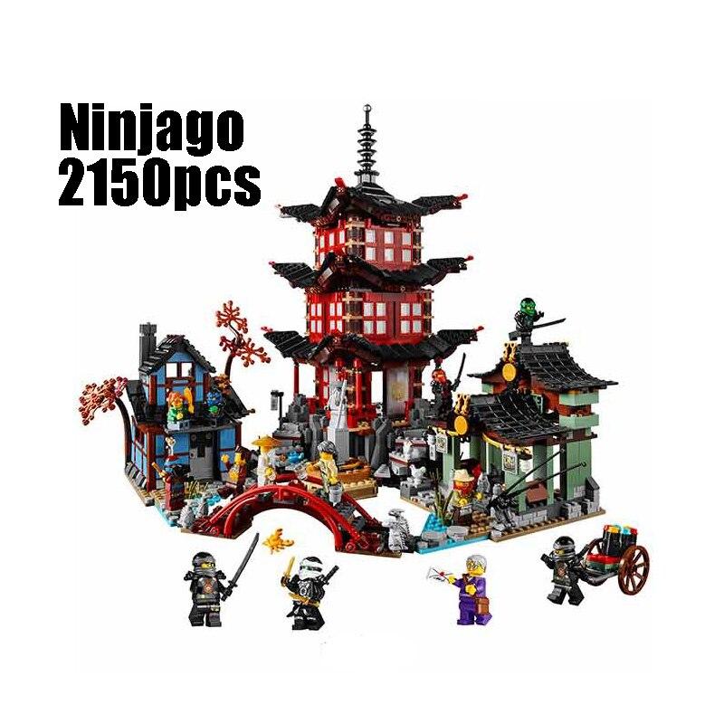 WAZ Compatible Legoe Ninjagoes 70751 Lepin 06022 blocks Ninjago Figure Temple of Airjitzu toys for children