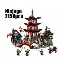 WAZ Compatible Legoe Ninjagoes 70751 Lepin 06022 bloques Ninjago Templo de Airjitzu Figura juguetes para niños bloques de construcción