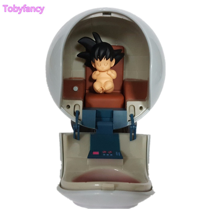 Dragon Ball Z Baby Son Goku Kakarotto With Spaceship PVC Action Figure Toy Super Saiyan Goku Anime Dragon Ball Super DBZ anime dragon ball z toy figure goku figures son goku pvc action figure chidren favorite gifts 15cm approx retail shipping