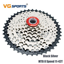 VG sports MTB 8 Speed 11-42T Bicycle Freewheel Cassette Sprocket Fixed Gear GOG Road Bicycle Freewheel for Shimano Sram shimano slx cs m7000 11s speed 11 42t cassette freewheel for mtb bicycle part