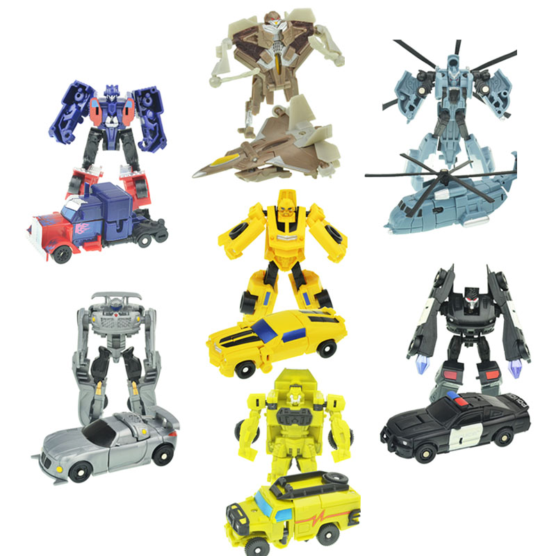 Image 3 - Kitoz Transformation Series Mini Robot Car Action Figure Model Deformation Plastic Toy Gift for Boy Children-in Diecasts & Toy Vehicles from Toys & Hobbies