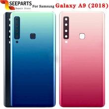 Para samsung galaxy a9 (2018) voltar capa da bateria porta traseira habitação caso para 6.3