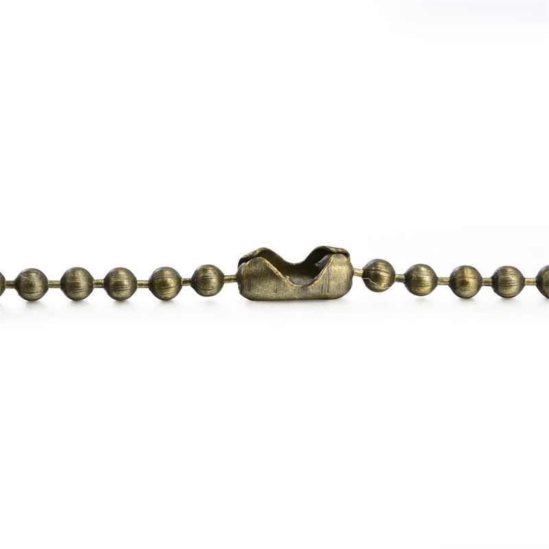 10 pcs Cobre Bronze Prata Talão 1.2 milímetros Conector de Ligação Cadeias De Bola de Massa Para Colar DIY