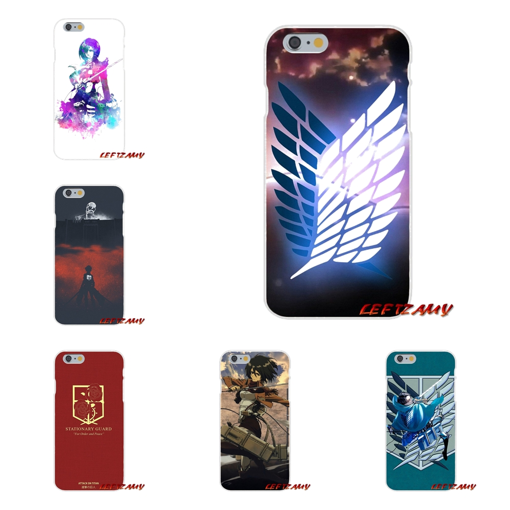 For Samsung Galaxy S3 S4 S5 MINI S6 S7 edge S8 S9 Plus Note 2 3 4 5 8 Accessories Phone Cases Covers Attack On Titan logo