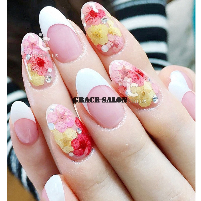 Icycheer Nail Art Dry Dried Flower 3d Decoration Wheel For Acrylic