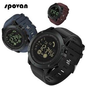 Image 1 - Spovan reloj inteligente para deportes al aire libre para hombre, reloj de pulsera con podómetro para iOS y Android, resistente al agua hasta 50M, recordatorio de llamadas y mensajes