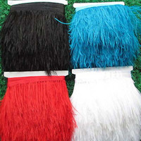Wholesale 10 yards pretty natural ostrich feather ribbon 10 12 cm/4 5 inches