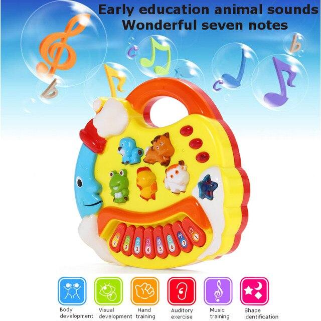 Funny Lovely Baby Children Kids Musical Educational Animal Farm Piano Toys Developmental Music Toy For Children