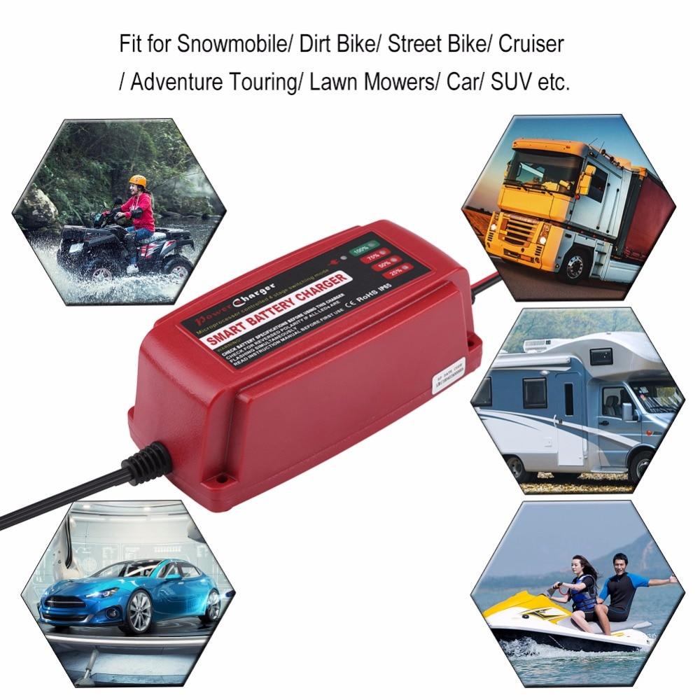 Zerone 12 V 5A chargeur de batterie automatique intelligent mainteneur pour voiture moto camion RV AGM GEL humide US Plug