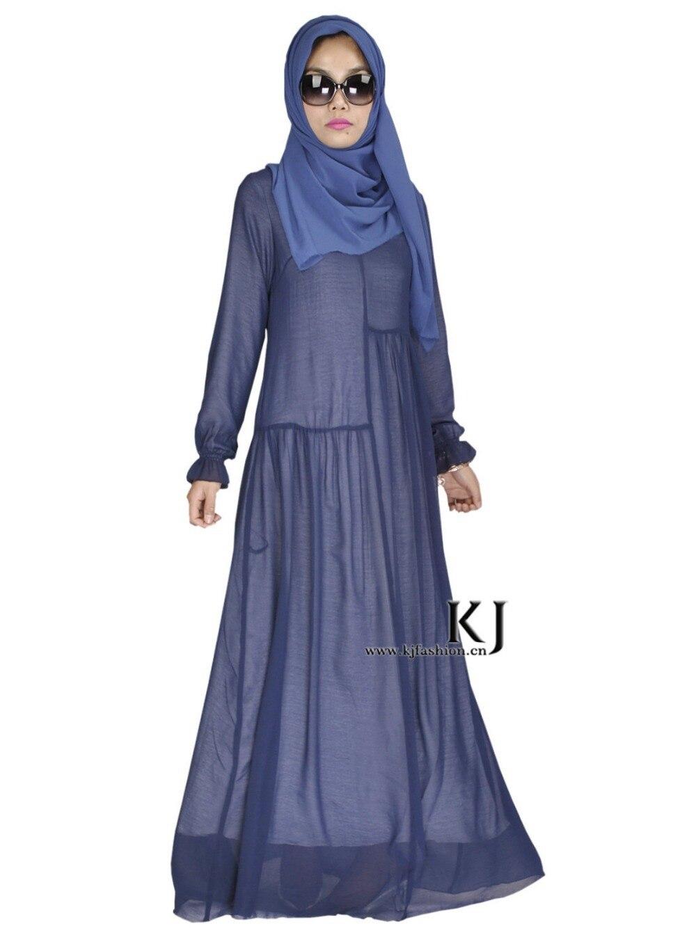 2015 musulman à manches longues robe maxi djellaba qualité supérieure soie dubaï robe Arabe traditionnel vêtements femmes burqa KJ20150307