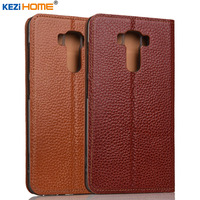Asus Zenfone 3 Laser ZC551KL case KEZiHOME Litchi Genuine Leather Flip Stand Leather Cover capa For Asus ZC551KL cases coque