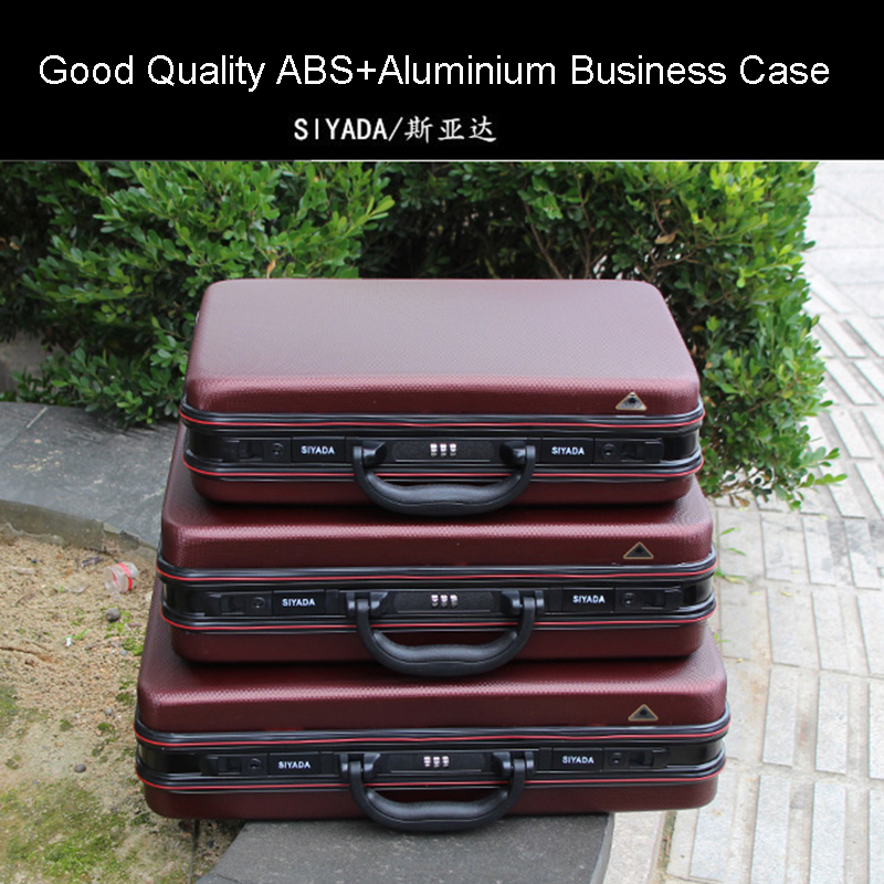 Tools Official Website Aluminium Toolbox Abs Tool Case Aluminum Frame Business Laptop Bag Advisory Suitcase Man Portable Suitcase Briefcase Handbag Box Elegant And Sturdy Package