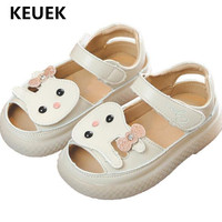 New Summer Children Shoes Baby Toddler PU Leather Sandals Girls Princess Flat Hook & Loop Kids Comfortable 02