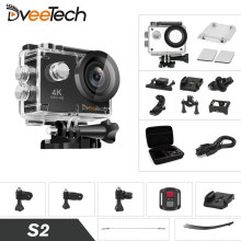 Action Camera 4K Wifi Waterproof Full HD Sports & Action Video 16Mp 30M 1080p Underwater Cam Bicycle Mini Camcorder Dveetech S2