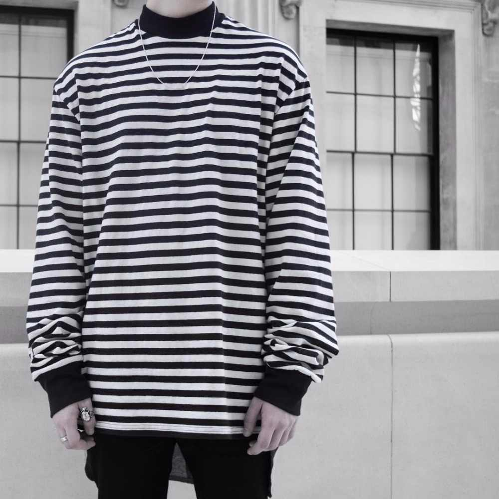 d3114403 2018 Latest JUSTIN BIEBER FOG FEAR OF GOD OVERSIZE stripe Long sleeve T  shirt hip hop