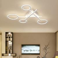 Креативный современный алюминиевый силиконовый светодиодный потолочный светильник для гостиной, спальни, столовой, потолочный светильник