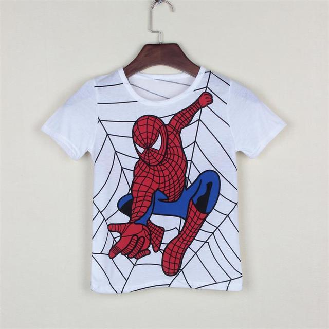 Mới 2018 cậu bé của t áo sơ mi phổ biến hero cotton ngắn tay t-shirt in ấn trẻ em của phim hoạt hình màu xám trẻ em trai trẻ em của quần áo